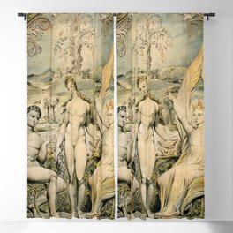 "William Blake ""The Archangel Raphael with Adam and Eve (Illustration to Milton's Paradise Lost)"" Blackout Curtain"