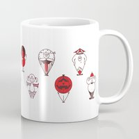 calendar Mugs featuring Calendar monsters by Nika Belova
