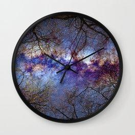 Fantasy stars. Milkyway through the trees. Wall Clock