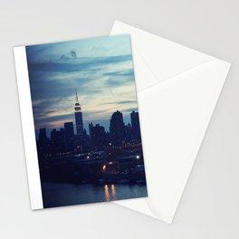 NYC Skyline by night Stationery Cards