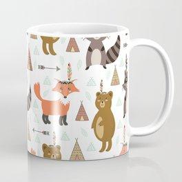 Bohemian orange brown forest animal arrows tribal pattern Coffee Mug