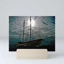 Boat Ship Pirate Fishing Shipyard Ocean Nautical Mini Art Print