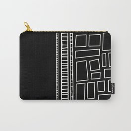 Black and White Squares Carry-All Pouch
