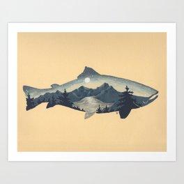 Full Moon Trout Art Print