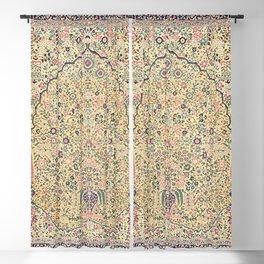 Douglass Mughal 'Millefleurs' North Indian Rug Print Blackout Curtain