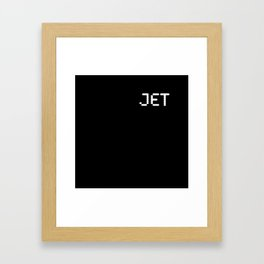 Jet (BLCK #5) Framed Art Print