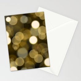 Abstract black gold color modern unfocused lights Stationery Cards