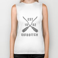 quidditch Biker Tanks featuring Varsity Quidditch by Makar Deku