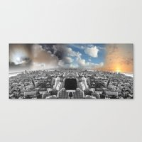 cycle Canvas Prints featuring Cycle by V  I  S  U  A  L  I  S  T