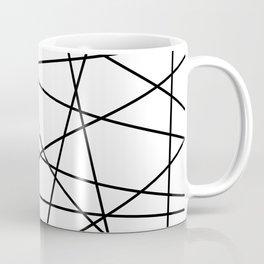 Geometric Lines (black/white) Coffee Mug