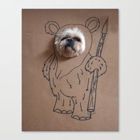 ewok Canvas Prints featuring Ch-ewok by Fran Ann Gallery