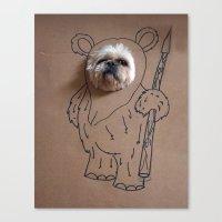 ewok Canvas Prints featuring Ch-ewok by Fran Ann Gallery
