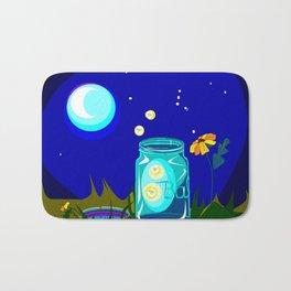 A Jar of Fireflies at Night Bath Mat