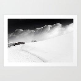 snow and cloud Art Print