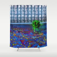 florence Shower Curtains featuring Florence Rose by Alev Takil