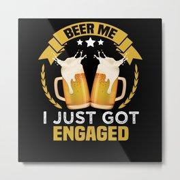 Engagement Toasting Metal Print