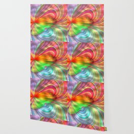 Abstract Rainbow Colors Butterfly Wallpaper