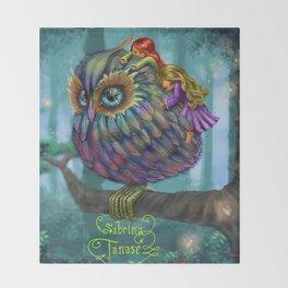 Sweetness of the Owl Throw Blanket