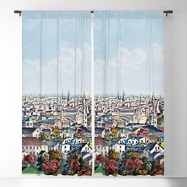 1877 Providence, Rhode Island Panoramic Portrait by Packard and Schwegler Blackout Curtain