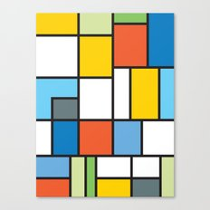 The Colors of / Mondrian Series - Simpsons Canvas Print