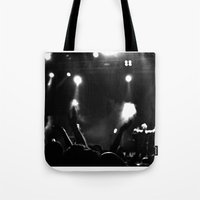 concert Tote Bags featuring Concert by Adrián Peñalver