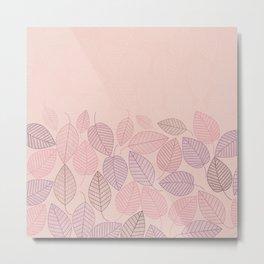 LEAVES ENSEMBLE ROSE Metal Print