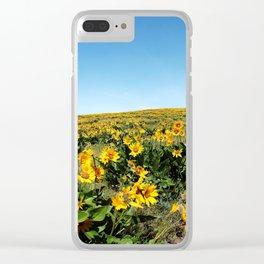 wildflower season Clear iPhone Case