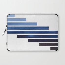 Navy Purple Blue Midcentury Modern Minimalist Staggered Stripes Rectangle Geometric Aztec Pattern Wa Laptop Sleeve