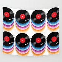 vinyl Wall Tapestries featuring Vinyl by jun salazar