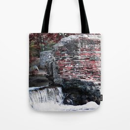 Mission Dam in the Fall Tote Bag