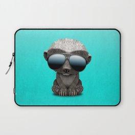 Cute Baby Honey Badger Wearing Sunglasses Laptop Sleeve