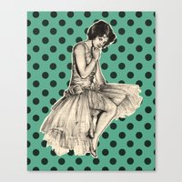 pinup Canvas Prints featuring Pinup by Jemma Cakebread