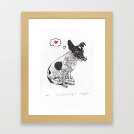 JRT Love Framed Art Print
