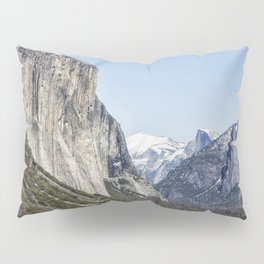 El Capitan, Half Dome and Sentinel Rock from Tunnel View Pillow Sham