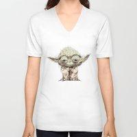 yoda V-neck T-shirts featuring Yoda by Seo Kim