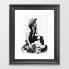 james dean 2 Framed Art Print