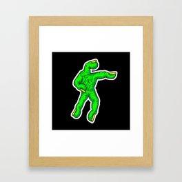 Zombie Dead Hands -Handy Jim Framed Art Print