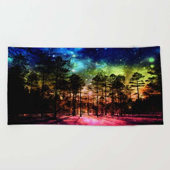 One Magical Night ( Rainbow ) Beach Towel