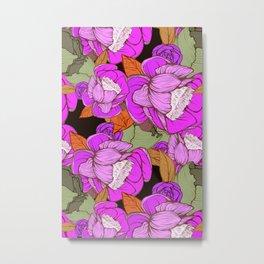 Camellias in Pink Metal Print