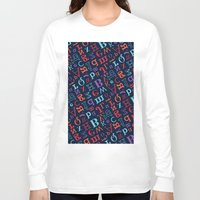alphabet Long Sleeve T-shirts featuring Alphabet  by cactus studio