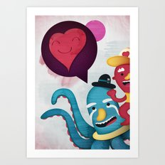 Pushing Love Like Pimps Art Print