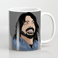 dave grohl Mugs featuring Dave Grohl - Fan Art by Matty723