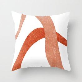Terracotta Art Print 6 - Terracotta Abstract - Modern, Minimal, Contemporary Print - Burnt Orange Throw Pillow