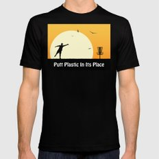 Putt Plastic In Its Place X-LARGE Mens Fitted Tee Black