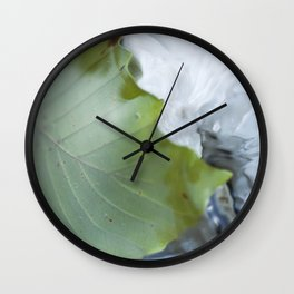 Underwater leaf Wall Clock
