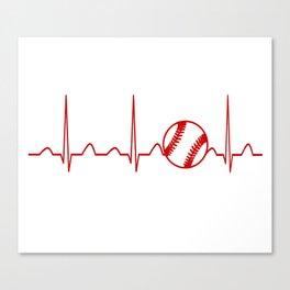 SOFTBALL HEARTBEAT Canvas Print