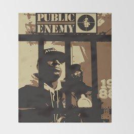 Public Enemy: 1988 Throw Blanket