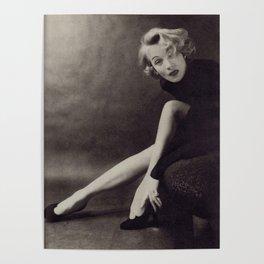 Marlene Dietrich legs Poster