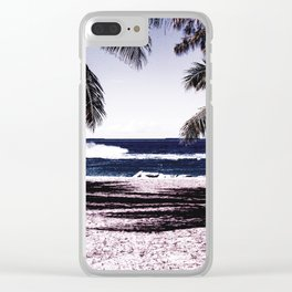 A peaceful paradise Clear iPhone Case