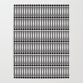 Art Deco dots and lines pattern Poster